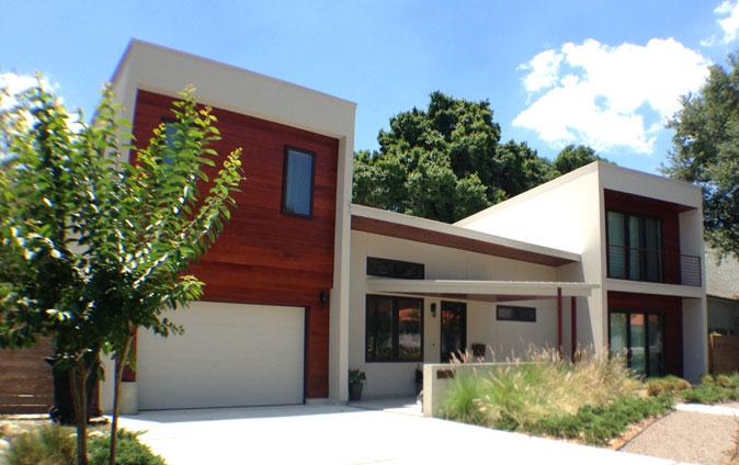 Photo of modern home.