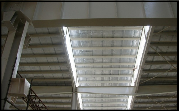 Photo of reflective material in ceiling.