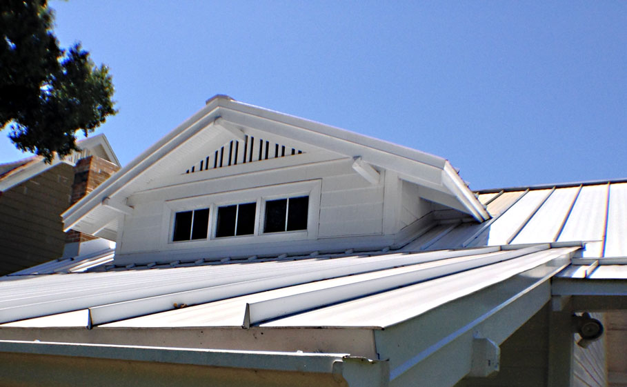 Photo of metal roof.
