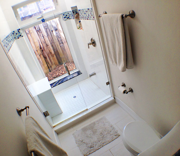 Photo of bathroom renovation.