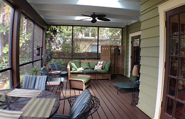 Porch renovation.
