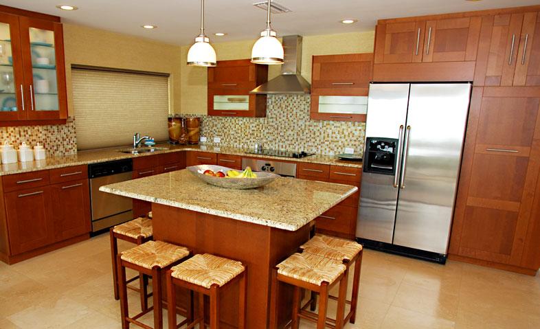 Kitchen renovation photo.